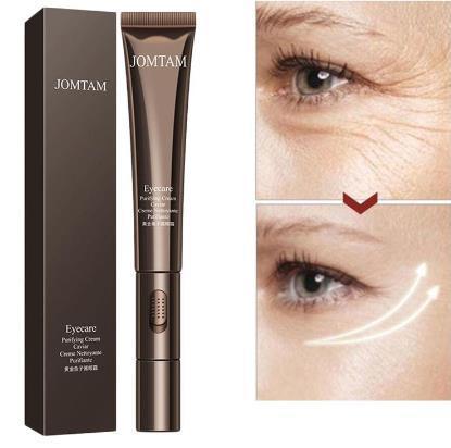 Gold Caviar Electric Massager Eye Cream Anti Wrinkles Eye Serum Roller Massager Eye Patches Anti Puffiness Dark Circles