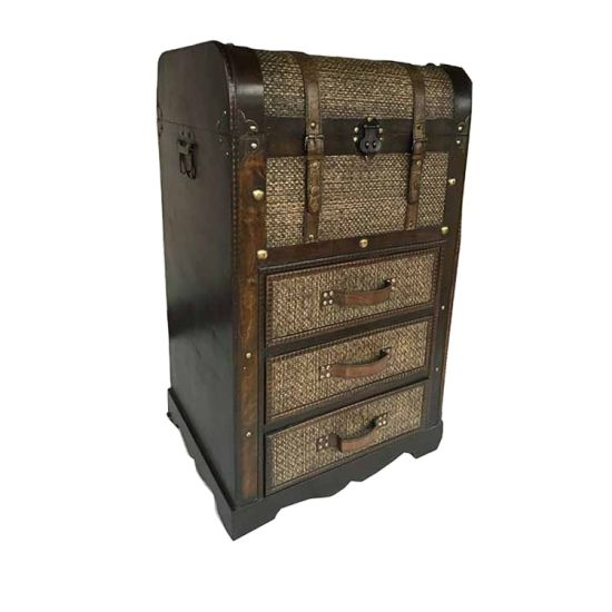 Classical Retro Obm Wooden Treasure Chest Craft