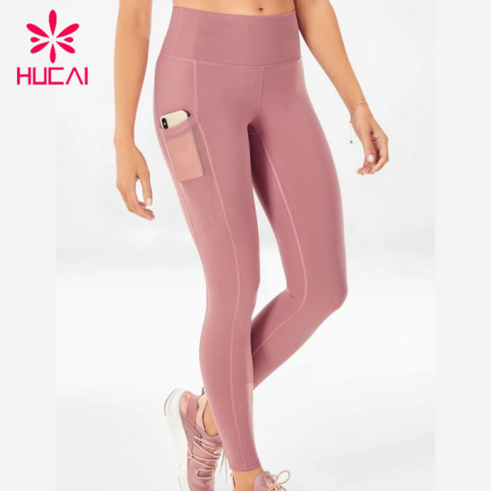 Custom Sports Fitness Workout Wear Breathable Womens High Waisted Pocket Legging