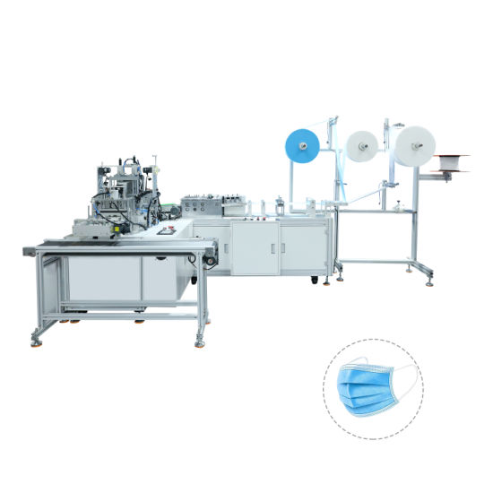 China Famous Factory Direct Sale Full Automatic Flat Mask Machine 3ply Surgical Disposable 1+1 Flat Face Mask Machine CE Certified Face Mask Making Machine