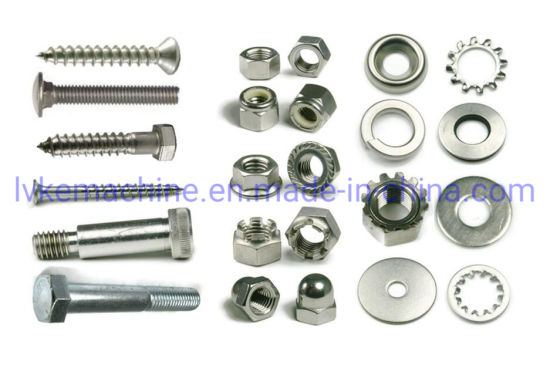 Hot Sale DIN933 Hex Bolt and Nuts/Slotted Nut Fasteners pictures & photos