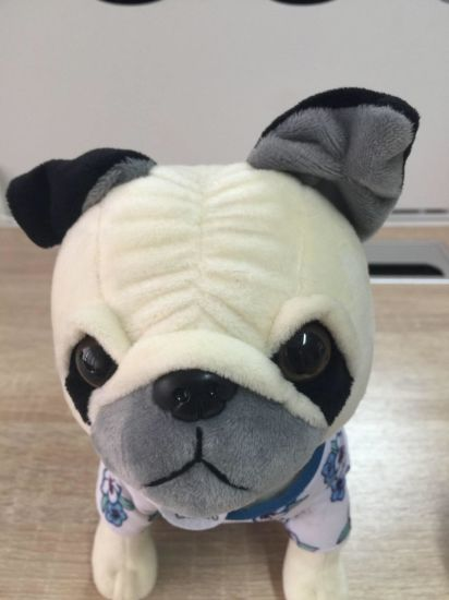 63a9218f81ad China Soft Sitting Customized Accepted Plush Dog with Cloth - China ...