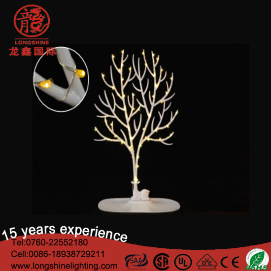 LED Cactus Star Shape Steel Frame Table Lamp Motif Christmas Light for Decoration