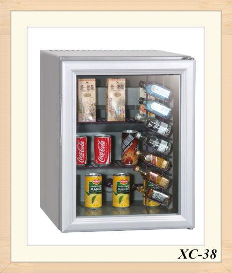 Customized Glass Door Mini Refrigerator W/Bottle Bar