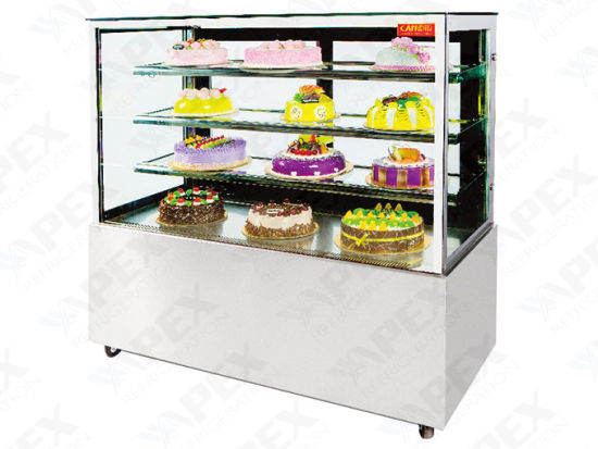 Three Layer Cake Display Cabinet Showcase with Embraco Compressor pictures & photos