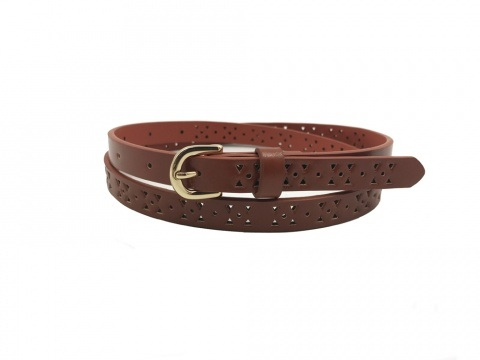 China Supplier Custom Hollow out Fashion PU Leather Lady Belt pictures & photos