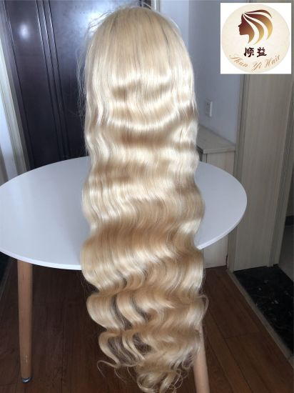 Popular Wholesale 613 Color Body Wave Brazilian Virgin Human Hair 200% Density 30 Inch Full Lace Wig Wth Baby Hair