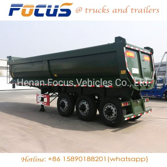 Heavy Truck 3 Fuwa Axles Gooseneck Dump Trailers Dealer/ Manufacturer