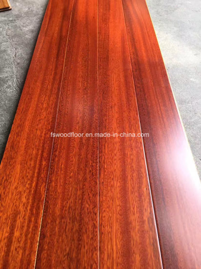 China Red Mahogany Color Iroko Solid Wood Flooring