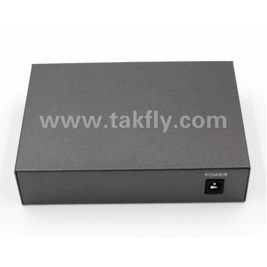 15.4W 30W 802.3af 802.3at 100m 1000m 5 Port Poe Switch pictures & photos