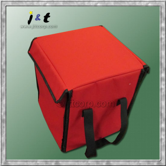 Wholesale Chinese Manufacturer Best-Selling Promotional Thermal Insulated Easy-Pack Foldable Food Meal Cooler Organizer Pizza Delivery Tote Bag
