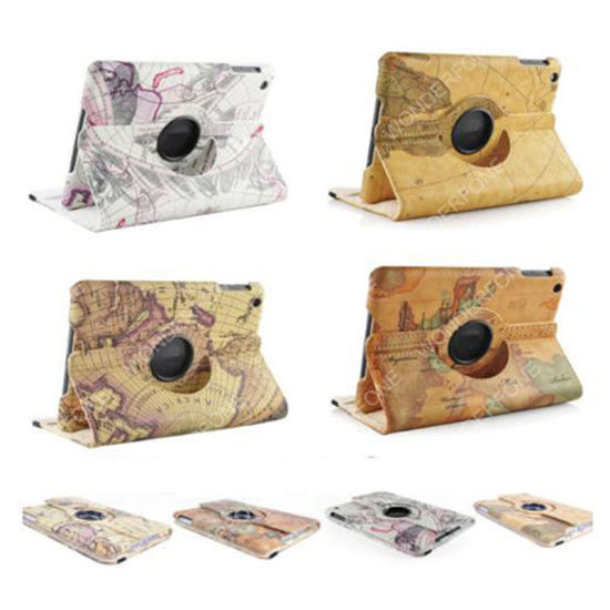 360 Degree Rotating PU Leather Case Cover for iPad pictures & photos