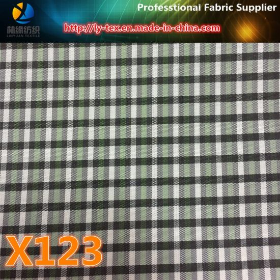Cash Commodity, Polyester Yarn Dyed Check Fabric for Garment (X121-123) pictures & photos