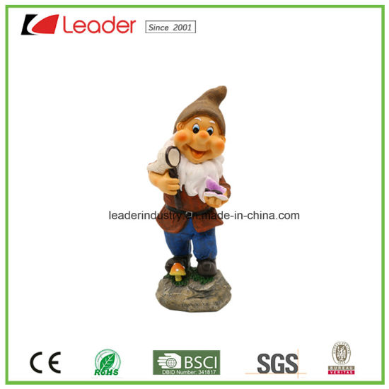 High Quality Resin Garden Decorative Dwarf Playing Tennis for Lawn Decoration pictures & photos