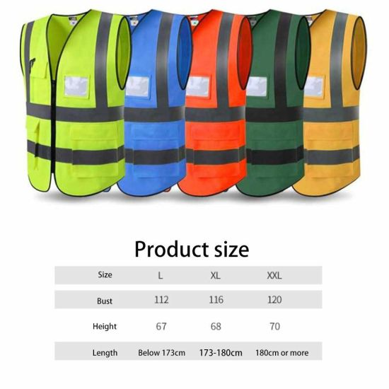Breathable 100% Polyester Construction Workwear Safety Reflective Vest