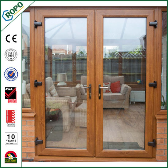 china custom wood french door double glazed for exterior china