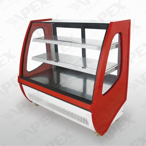 High Spped Cooling Front Open Cake Display Cooler for Supermarket pictures & photos
