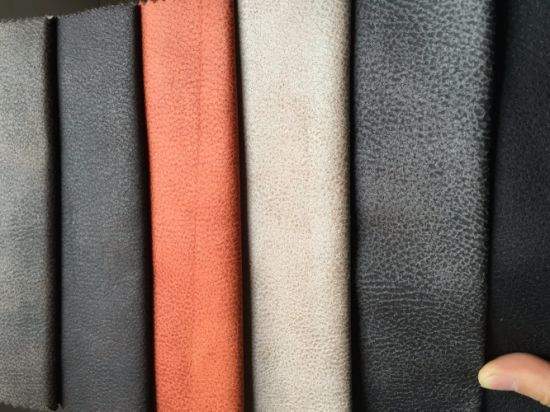 Easy Cleaning Leather Looking Suede Sofa Fabric K034