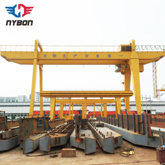 Rail Mounted Double Beam Box Type Gantry Crane for Sale pictures & photos