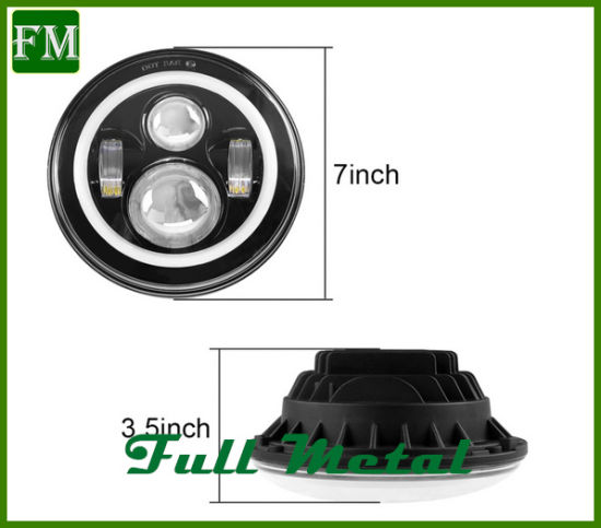 Bluetooth RGB Halo Replace LED Headlights for Jeep Tj Parts pictures & photos