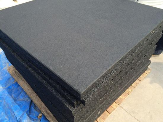 China Black With Grey Fleck Gym Rubber Floor Tile Mats Versafit