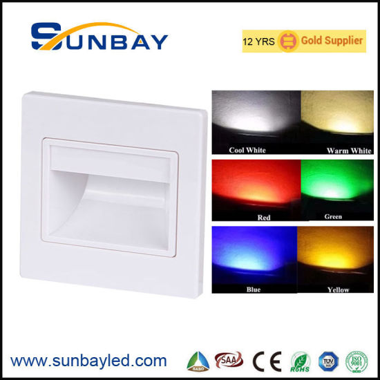 Modern LED Step Wall Light Red Green Blue Yellow Color