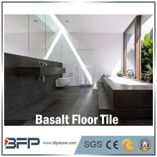 China Flooring Natural Black Basalt Tile With Cheap Price For Sale