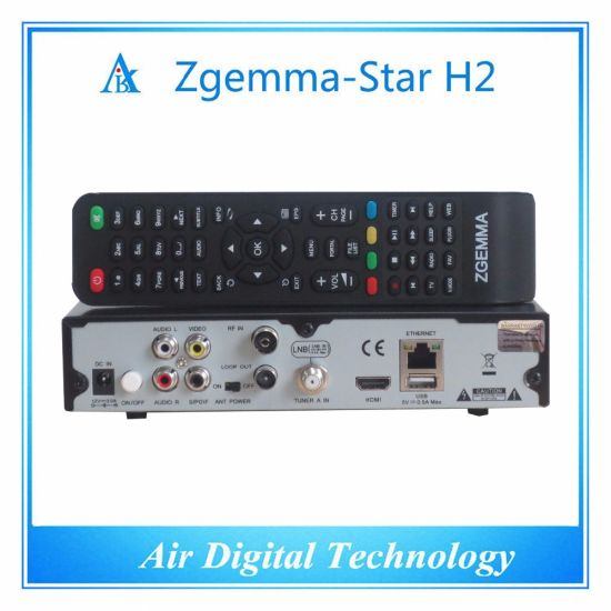 Italy Hot Sale Zgemma Star H2 Satellite Receiver Linux OS E2 DVB-S2+T2/C Twin Tuners pictures & photos