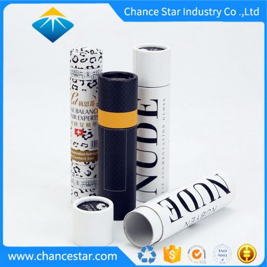 Custom Printed Kraft Paper Cosmetics Tube Packaging Box