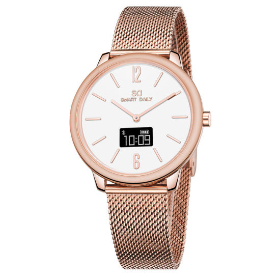China Ladies Rose Gold Smart Watch, Bluetooth, Touchscreen, Japan