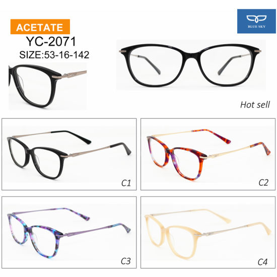 bb2c13bab21 Chinese Supplier Designer Glasses Frames Optical Glasses with Metal Temple  for Women Design Factory Directly Supply Ready Goods