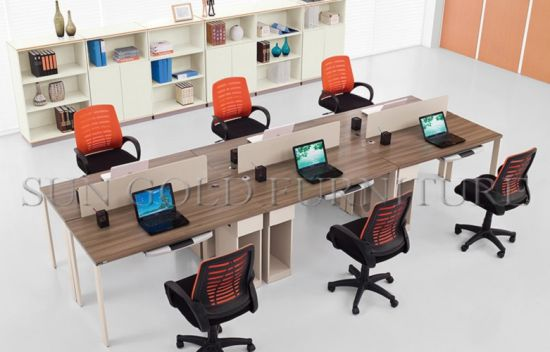 Modern Office Table Design Photos Small Panel Linear Workstation Sz Ws616