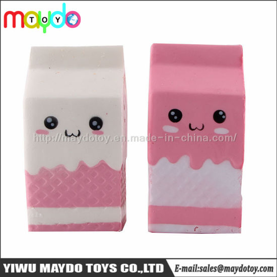 PU Squishy Milk Box Soft Slow Rising Scented Toys
