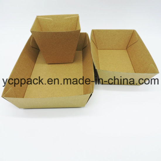 Disposable Food Packaging Corrugated Paper Chips Fries Fruits Salver Tray pictures & photos