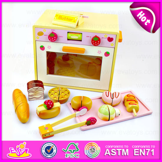 2017 Simulation Design Wooden Kitchen Set Diy Microwave Oven Toy High Quality Children W10d014