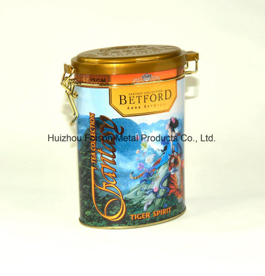 Custom Design Embossed Metal Tin Packaging Can Oval Shaped Tin Box for Tea and Coffee