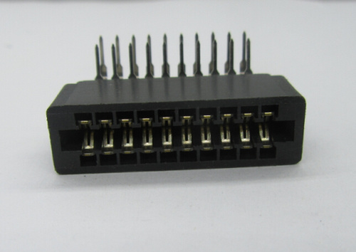 2.54mm Card Edge Connector, Right Angle DIP Available for Different Poles PBT Selective Gold Plated