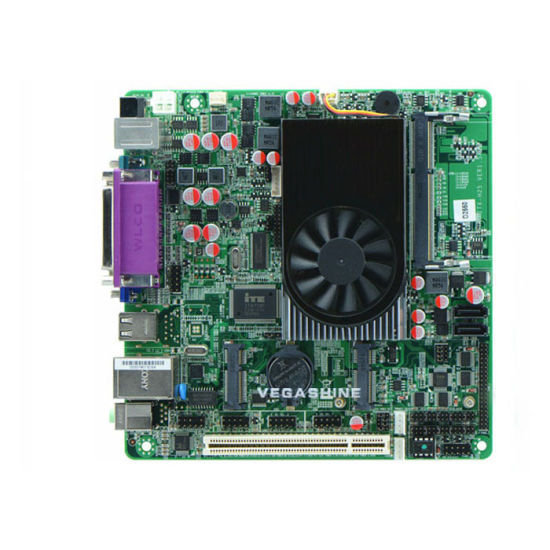 Atom D2550 Mini Itx Embedded Industrial Motherboard 6 COM, 8 USB DC Power Supply