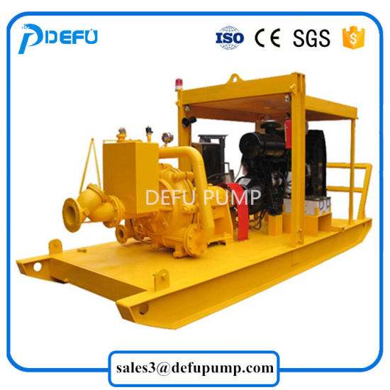 Horizontal Diesel Engine Sand Transfer Mortar Slurry Centrifugal Pump Price pictures & photos