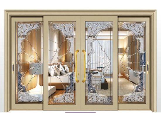 4 Panels Interior Aluminium Frame Sliding Door For TV Room