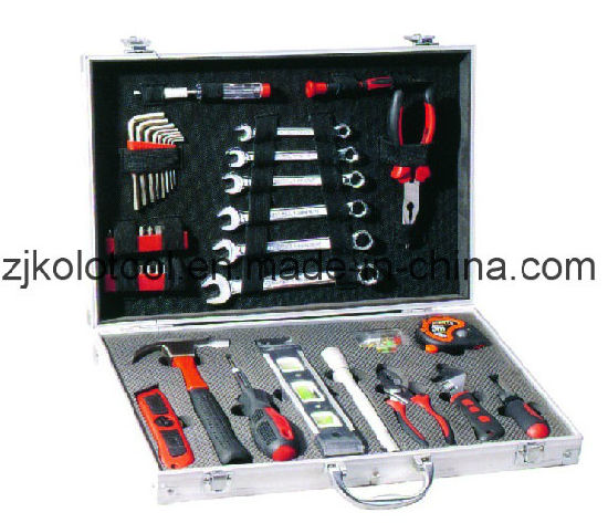 113PCS Germany Design Aluminium Hand Tool Set Box Kit pictures & photos