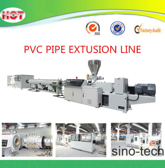 china upvc pvc plastic pipe machine for electrical wire conduit pipe rh sino tech en made in china com