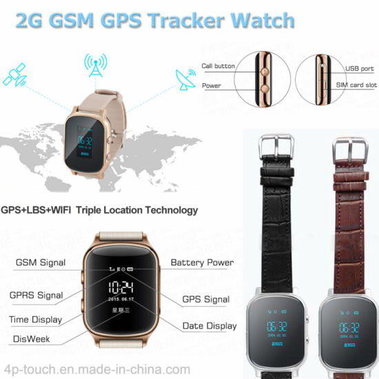 Adult GPS Tracker Watch for Personal with Sos Button T58 pictures & photos