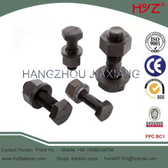 ASTM A325m Grade 8 8 Steel Structural Bolts with Nut and Washer