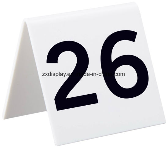 china clear acrylic tent style table numbers china acrylic display