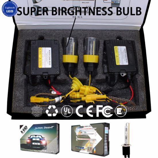 55W Competitive Price Fast Bright Bulb HID Xenon Kit H4 Hi Low Beam HID Xenon