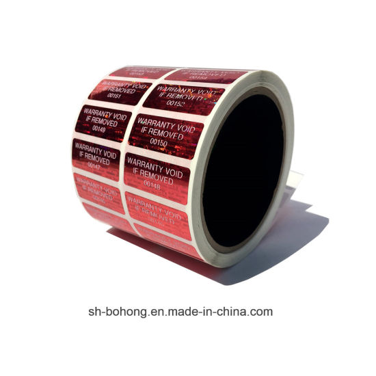 China Custom Hologram Lipstick Clear Vinyl Laser Round Label