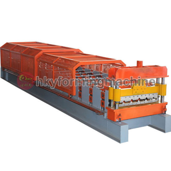PLC Control Roll Forming Machine Making Wall Panel Metal