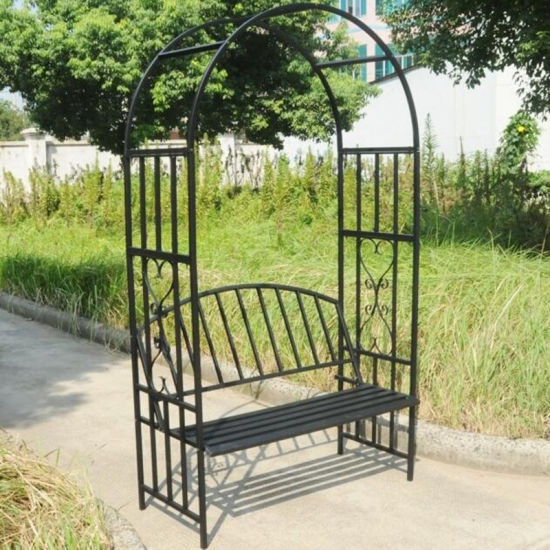 Fantastic China Hot Selling Wrought Iron Garden Bench With Archway Squirreltailoven Fun Painted Chair Ideas Images Squirreltailovenorg