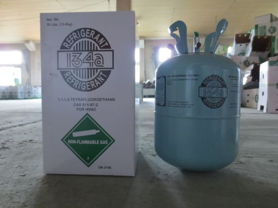 R134A 13.6kgs Net Weight Pure Refrigerant Gas with Disposable Cylinder